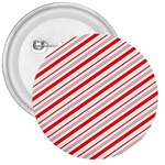 Candy Cane Stripes 3  Buttons