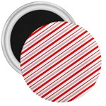 Candy Cane Stripes 3  Magnets
