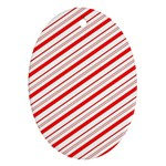 Candy Cane Stripes Ornament (Oval)