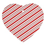 Candy Cane Stripes Ornament (Heart)