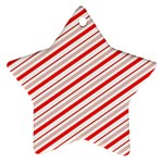 Candy Cane Stripes Ornament (Star)