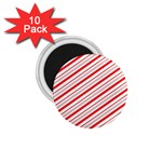 Candy Cane Stripes 1.75  Magnets (10 pack)