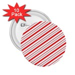 Candy Cane Stripes 2.25  Buttons (10 pack)