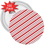 Candy Cane Stripes 3  Buttons (100 pack)