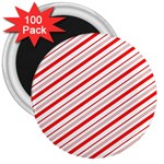 Candy Cane Stripes 3  Magnets (100 pack)
