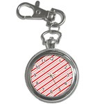 Candy Cane Stripes Key Chain Watches