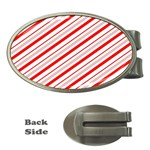 Candy Cane Stripes Money Clips (Oval)