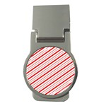 Candy Cane Stripes Money Clips (Round)