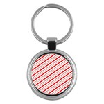 Candy Cane Stripes Key Chains (Round)