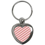 Candy Cane Stripes Key Chains (Heart)
