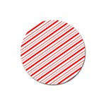 Candy Cane Stripes Magnet 3  (Round)