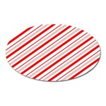 Candy Cane Stripes Oval Magnet