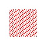Candy Cane Stripes Square Magnet