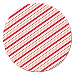 Candy Cane Stripes Magnet 5  (Round)