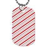 Candy Cane Stripes Dog Tag (One Side)