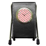 Candy Cane Stripes Pen Holder Desk Clocks