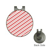 Candy Cane Stripes Hat Clips with Golf Markers