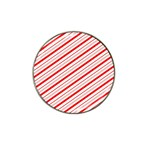 Candy Cane Stripes Hat Clip Ball Marker (10 pack)