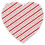 Candy Cane Stripes Jigsaw Puzzle (Heart)