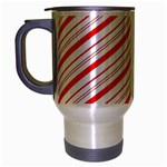 Candy Cane Stripes Travel Mug (Silver Gray)