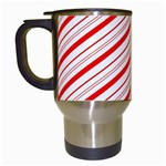 Candy Cane Stripes Travel Mugs (White)