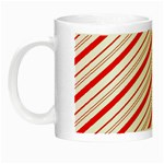 Candy Cane Stripes Night Luminous Mugs