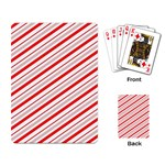 Candy Cane Stripes Playing Card