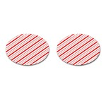 Candy Cane Stripes Cufflinks (Oval)