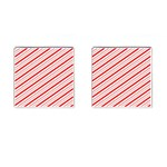 Candy Cane Stripes Cufflinks (Square)