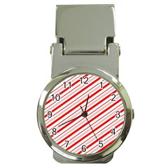 Candy Cane Stripes Money Clip Watches