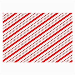 Candy Cane Stripes Large Glasses Cloth