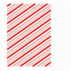 Candy Cane Stripes Large Garden Flag (two Sides) by jumpercat