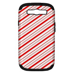 Candy Cane Stripes Samsung Galaxy S Iii Hardshell Case (pc+silicone)