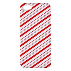 Candy Cane Stripes Apple Iphone 5 Premium Hardshell Case by jumpercat