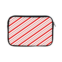 Candy Cane Stripes Apple Ipad Mini Zipper Cases by jumpercat