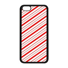 Candy Cane Stripes Apple Iphone 5c Seamless Case (black)