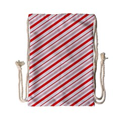 Candy Cane Stripes Drawstring Bag (small)