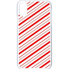 Candy Cane Stripes Apple Iphone X Seamless Case (white) by jumpercat