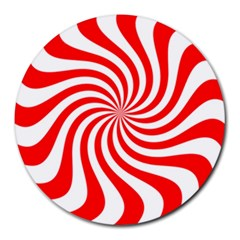 Peppermint Candy Round Mousepads