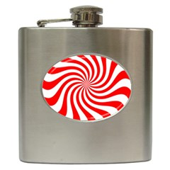 Peppermint Candy Hip Flask (6 Oz)