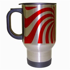 Peppermint Candy Travel Mug (silver Gray) by jumpercat