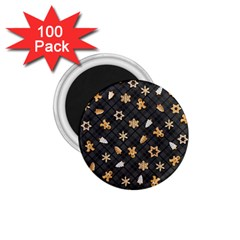 Gingerbread Dark 1 75  Magnets (100 Pack)  by jumpercat