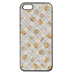 Gingerbread Light Apple Iphone 5 Seamless Case (black)
