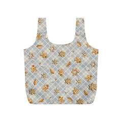 Gingerbread Light Full Print Recycle Bags (s)