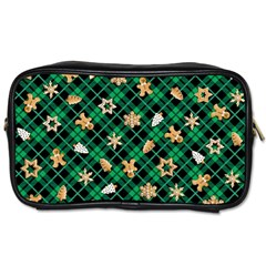 Gingerbread Green Toiletries Bags 2 Side