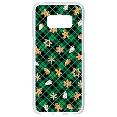 Gingerbread Green Samsung Galaxy S8 White Seamless Case