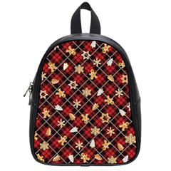 Gingerbread Red School Bag (small)