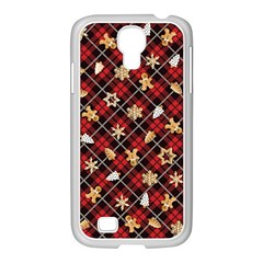 Gingerbread Red Samsung Galaxy S4 I9500/ I9505 Case (white)
