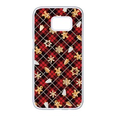 Gingerbread Red Samsung Galaxy S7 Edge White Seamless Case