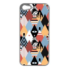 Abstract Diamond Pattern Apple Iphone 5 Case (silver)